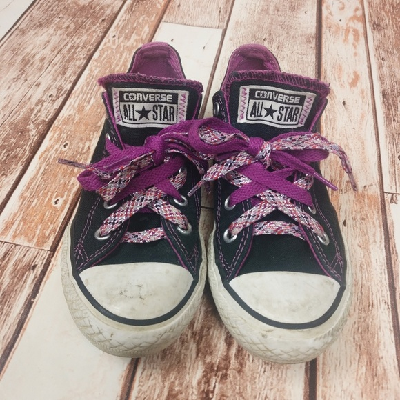 Converse Other - Converse All Star Chuck Taylor Black Purple Girls